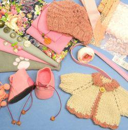 Набор для шитья одежды кукле, медведю