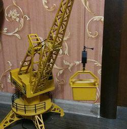 Crane on the control panel