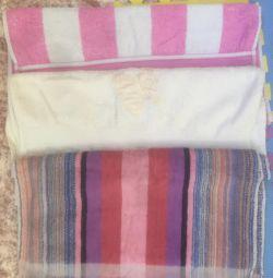Σετ πετσέτες (αναποδογυρίζοντας) πετσέτα κατά μέσο όρο μπάνιο