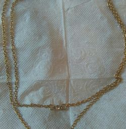Chain with angel pendant gilded