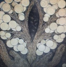 Money tree made of coins