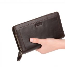 Male leather clutch dudini