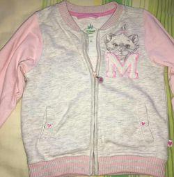 Sweatshirt with zipper Poland 86/92