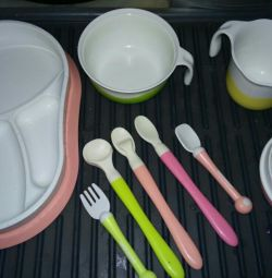Set of children's dishes