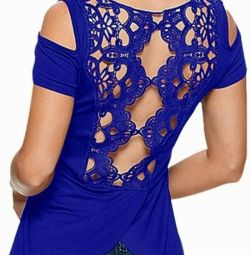 blouse with an openwork back