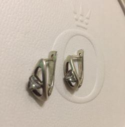 Серебряные серьги сережки