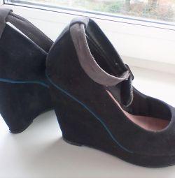Туфли в хорошем состоянии эковелюр