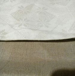 masa örtüsü üzerinde fabric.hair gray.white
