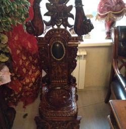 Chair - throne, natural wood