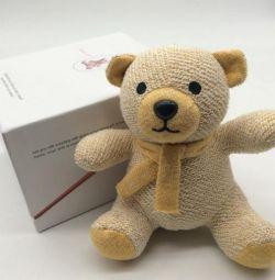 Column in a soft bear toy