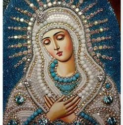Ікона, Алмазна вишивка, 30х40, Богоматір