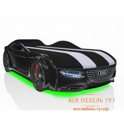 Κρεβάτι οδηγού με συρτάρι και ρίγες υπογραφής (μαύρο Audi)