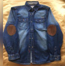 Сорочка джинсова 8-9 років