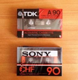 Κασέτες - TDK A90 και Sony CHF90