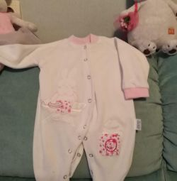 Fleece warm jumpsuit 1-3 months