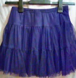 короткая ЧЁРНАЯ юбочка для девочки - подростка