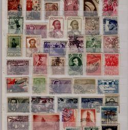 СРСР 1920-30 роки. Набір 100 різних марок