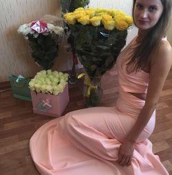Dress elegant floor 42-44