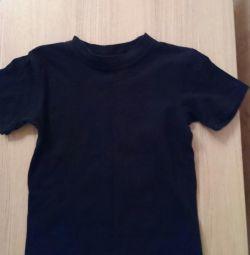 Μαύρο μπλουζάκι Amalfy 128-64
