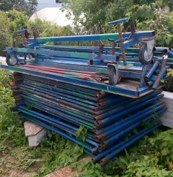 Rental of scaffolding