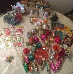 Товари СССР.Новогодніе ялинкові іграшки і мішура
