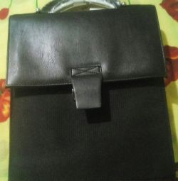 New leather bag (men's).
