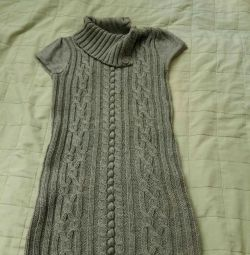 Knitted baby dress for 7-8 years