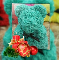Bear of roses turquoise
