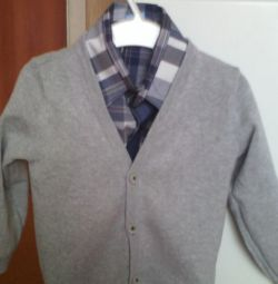 Shirt + Cardigan