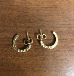 Χρυσά σκουλαρίκια με διαμάντια