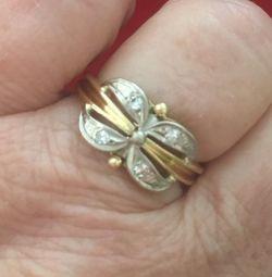 Inel aur 750 pr cu diamante