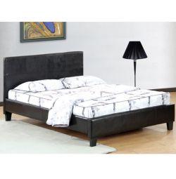 Fenia Bed în Brown PU 150x200