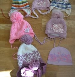 Caps for girls 1-3 years
