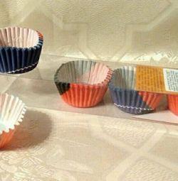Капсулы бумажные гофрированные для конфет.