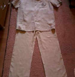 koca. keten takım elbise (gömlek ve pantolon) 46-48r