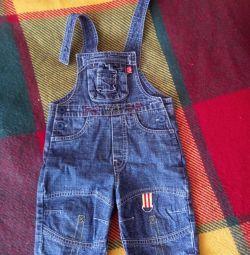 Salopete de jeans pentru copil