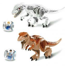 Jurassic Park. 2 maxi lego δεινόσαυροι.