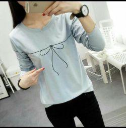 Fiyonklu şık tişört.Novaya.r.44-48