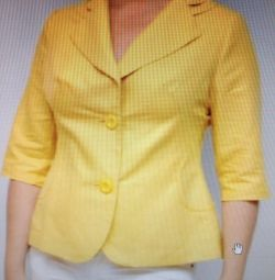Promotion 1000₽ Jacket for women, Len, new size 58