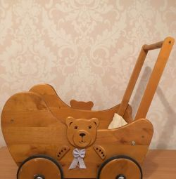Stroller for dolls (wood)