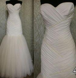 Свадебное платье новое рыбка