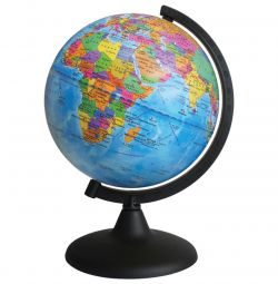 Globe with a political map of the Earth