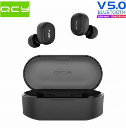 🔥 TWS Earphones QCY QS2 T1S BT5.0 AAC Original