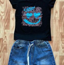 Νέα τζιν + μπλουζάκι