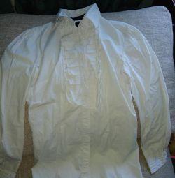 👚Строгая белая рубашка