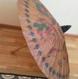 Decorative umbrella made of bamboo