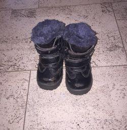 Ботинки кожа зима 24 р