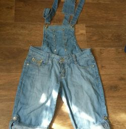 Denim women's overalls