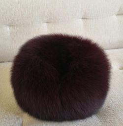 Γούνινο καπέλο γυναικών (αρκτική αλεπού)