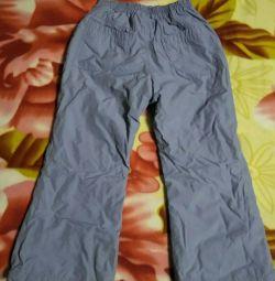 Pantaloni - pantaloni suspendați, înălțime 116 cm